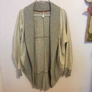 Xhilaration Gray and White Cardigan